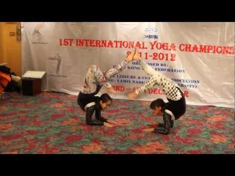 Joey in Artistic Yoga at Dayal 1st International Yoga Championship 2011-2012